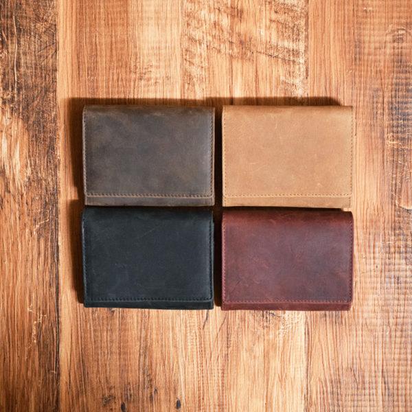 オールレザー二つ折り財布