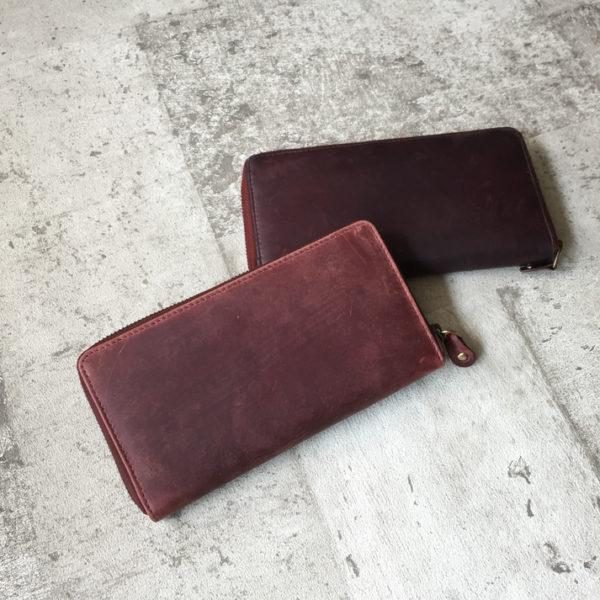 楽しめる革財布のエイジング