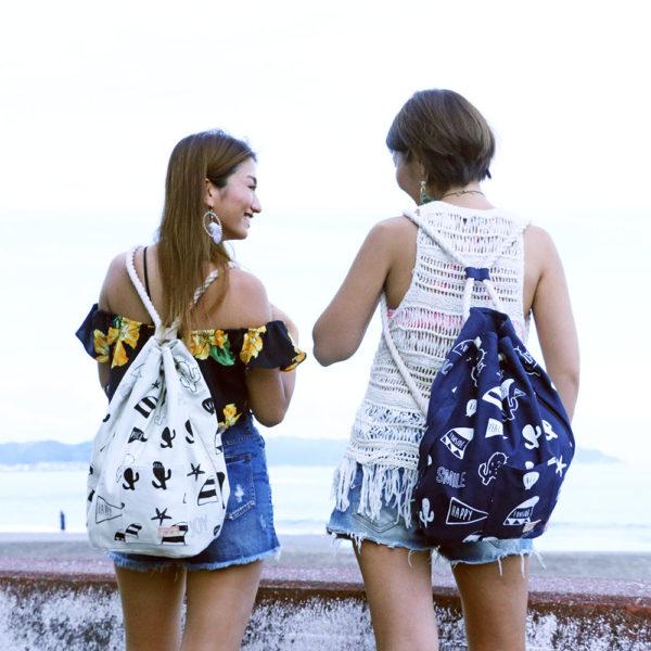 【商品紹介】ナップサックひとつで、夏の旅へでかけよう。
